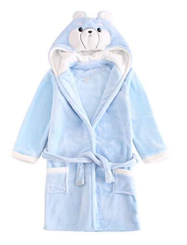 ABClothing Albornoz Infantil 100% de algodón para niños con Capucha de Personaje de muñeco de Nieve...