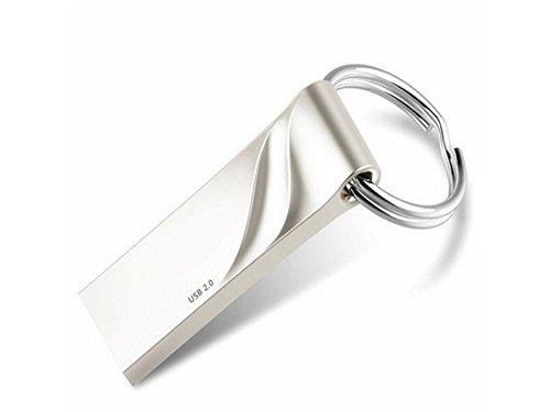 Panpa durevole disco da 16 gb mini memory stick usb2.0 thumb drive disco flash metal impermeabile antiurto u (argento)