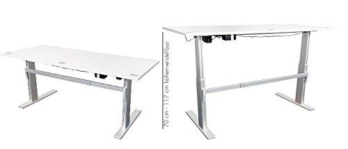 Höhenverstellbarer Schreibtisch in Anthrazit Ergonomisch Elektrisch B 180 cm x T 80 cm Bürotisch Arbeitstisch - 7