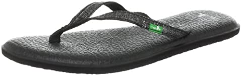 Sanuk Women's Yoga Spree 2 Flip Flop,Black,6 M US