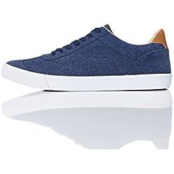 FIND Sneaker Basse in Pelle Scamosciata Uomo, Blu (Navy), 47 EU