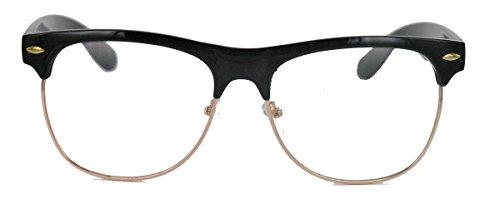 amashades Vintage Nerdies 50er Jahre Retro Nerd Brille Halbrahmen Hornbrille Browline Rockabilly...