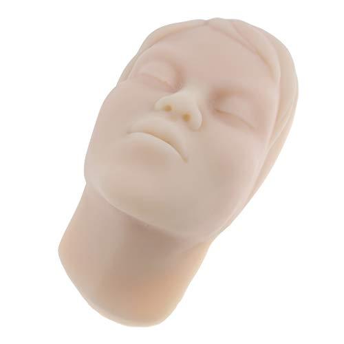 perfk Modèle Cosmétique Facial pour Tête en Silicone Peut être Utilisé pour Massage Facial, l'Affichage des Travaux et l'Examen Permanent