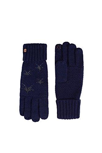 edc by Esprit Accessoires Damen Handschuhe 117CA1R001, Blau (Navy 400), One Size