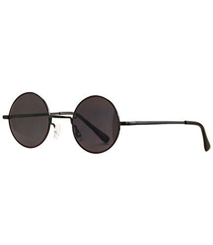 caripe runde Sonnenbrille Lennon Brille - schwarz - schwarz getönt