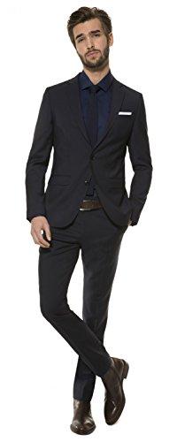 Slim Fit - Herren Baukasten Anzug aus reiner Schurwolle, Marke: Lanificio Tessile d'Oro, Jasper/Lux (CMP-9999-6730), Größe:24;Farbe:Navy (Enge Anzüge)