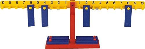 Actua per equilibri quan hi ha una relació d'igualtat entre els 2 braços, de manera que les nocions de càlcul i equivalències arriben a ser completament entenedors en la pràctica. Característiques: Llargada total de braços 65 cms. 20 pesos 10 penjado...