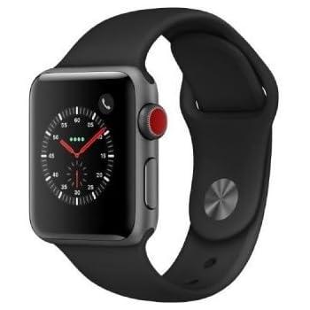 Apple Watch Series 3 LTE/4G 38mm Aluminiumboîte Space gris Sportbracelet noir