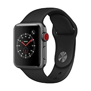 Apple Watch Series 3 38mm 4G GPS - Space Grey Aluminium Case with Black Sport Band