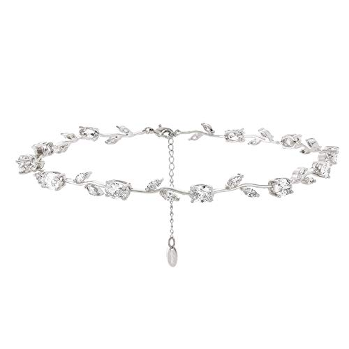 Nikita by Niki Rosen-Statement-Halskette mit Strasssteinen (Silber-)