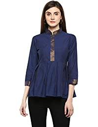 Bhama Couture Women's Plain Regular fit Top