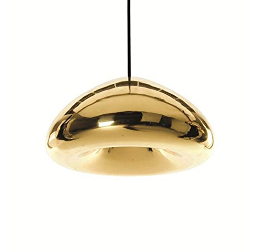 W&HH Creative Brass Bowl Glas Kronleuchter, Galvanik Glas Kronleuchter Restaurant Dining Bar Licht und kreative Lampen, große Silberne Schüssel,Gold,18cm - Große Schüssel Kronleuchter
