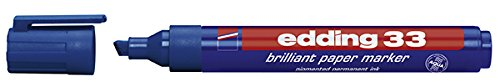 edding Pigmentmarker edding 33 brilliant paper marker, nachfüllbar, 1 - 5 mm, blau