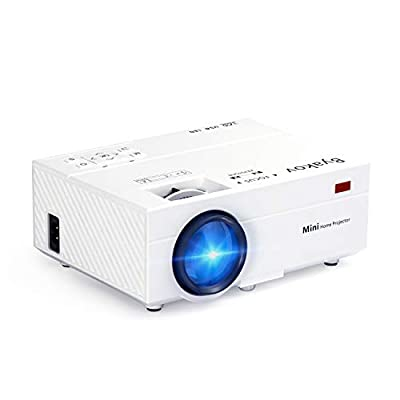 Byakov Mini Projecteur, 2500 Lumens Vidéoprojecteur Portable Retroprojecteur, 55000 Heures Multimédia Home Cinéma Projecteur, Compatible iphone, Android Smartphone par Byakov
