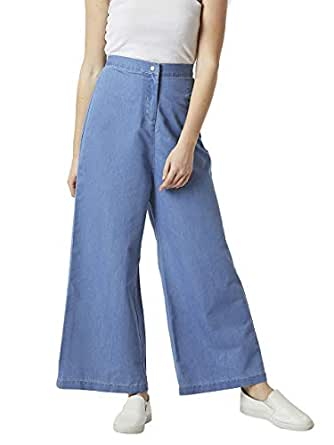 Miss Chase Women's Denim Flared Pants