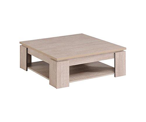 Parisot 0197TABA MANHATTAN Table Basse Panneau de particules Gris Loft 86 x 86 x 32 cm