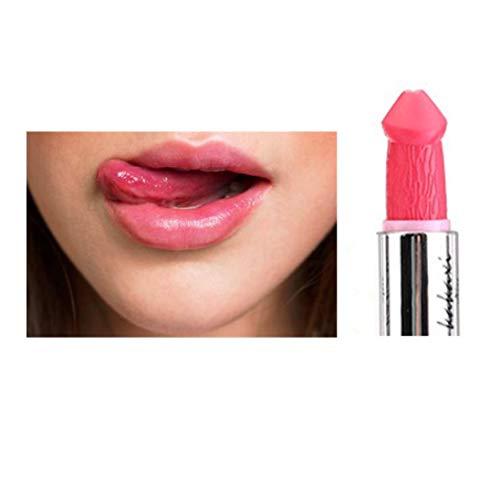 Jaminy Frauen-populärer Penis-Form-Lippenstift-Pilz-Vampirs-Kuss Lipgloss heiße Verkäufe (G)