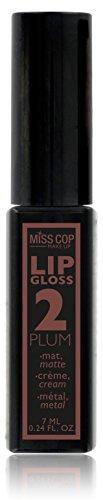 Miss Cop - Brillo de labios efecto ciruela metálica