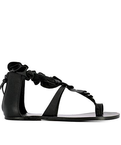 isabel-marant-femme-sd017417e003s01bk-noir-cuir-sandales