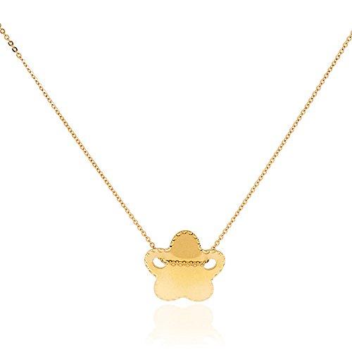 Gioiello Italiano - Collier avec pendentif étoile jaune