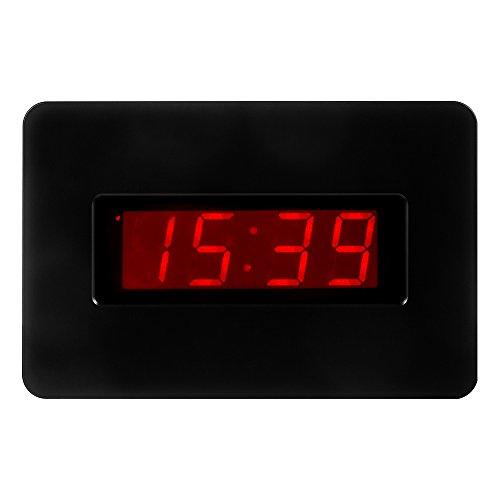Kwanwa Reloj de pared digital con pilas Pantalla grande Alarma Snooze compatible con el dormitorio, la oficina, puede poner en la mesa y la mesa auxiliar, se puede utilizar por 1 año Negro