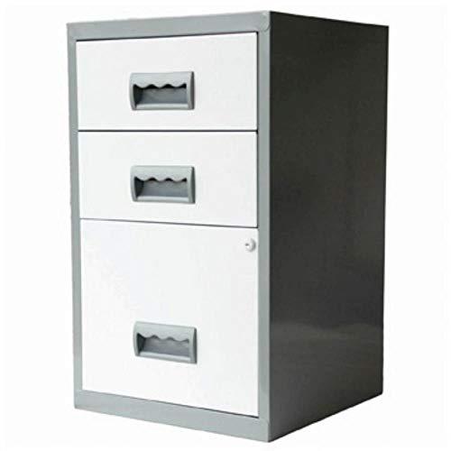 Generic Enry ST Stahl-Kabinenfüller, abschließbar, A4, mit Schublade, Weiß