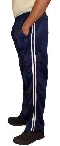 Preisvergleich Produktbild Herren Tricot Trainingsanzug unten Lässige Cargo Combat Hose Trainingsanzug unten Gr. L,  Blau - Navy