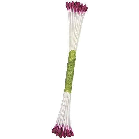 JEM stami per zucchero fiori perla viola, confezione da 50, colore: rosa