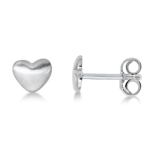Miore Ohrringe Mädchen / Kinder/  jugend, Schmuck Ohrstecker Herz 925 Sterling Silber (Jugend Herz)
