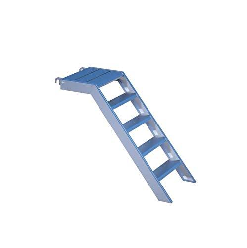 Aluminio Podio Escaleras para 1m de altura, 58cm de ancho, Jardín, estanque Piscina, Edificios de flotación Acceso, con einhängeklauen