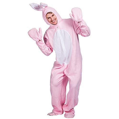 EraSpooky Unisex Kaninchen Kostüm Hasenkostüm Faschingskostüme Einteiler - Halloween Party Karneval Fastnacht Tierkostüm für Erwachsene Herren Damen