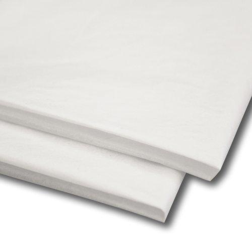 Kostüm Einfach Asian - 100 x Seidenpapier / Geschenkverpackung / Geschenkpapier Blätter 50cm x 76cm - Weiß