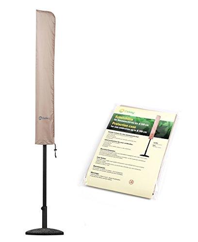 Sekey® Schutzhülle für Ø 200 cm / 200 cm × 150 cm / 200 cm × 125 cm Sonnenschirm, 100% Polyester, Taupe