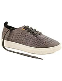 Chumbak Sprinting Steps Grey Sneakers - 38