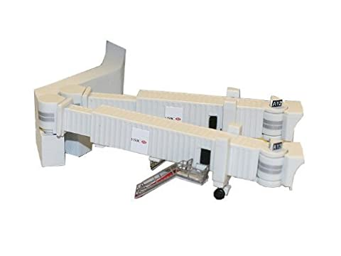 Gemini Jets Airbridge Set 2 with 3 Dual Widebody Jet Bridges and Airport Adapters, 1:400 Scale by Gemini Jets TOY (English Manual)