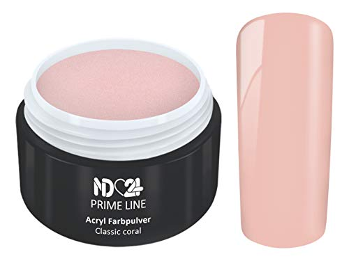 5G - PRIME LINE - ACRYL FarbPulver KORALLE ROSA PINK - Feinstes FARB Acryl-Puder Acryl-Pulver Acryl-Powder - STUDIO QUALITÄT - Rosa Acryl Pulver
