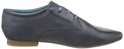 Tamaris 23209, Derby femme Bleu - Blau (NAVY PLAIN 844)