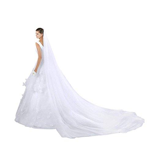 YLucky - Velo de novia - Mujer Blanco blanco Talla única