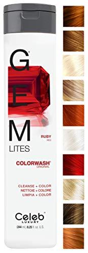 Black Hair Blonde Highlights (GEM LITES COLORWASH SHAMPOO RUBY by GEM LITES)