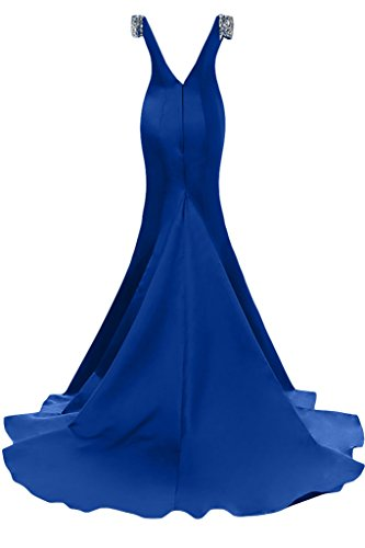 Sunvary elegante sirena V-Back Capsleeves taffetà fiesta ballo del vestito da sera Verde Cacciatore