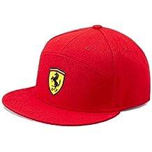 Gorra de ala Plana roja de la Marca Sports Merchandising B.V. Scuderia Ferrari F1