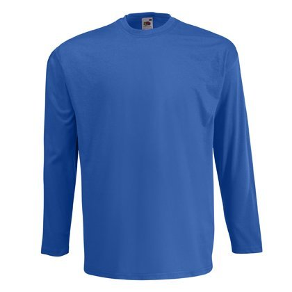 Fruit of the loom - maglia a manica lunga - maniche lunghe - uomo blu reale x-large