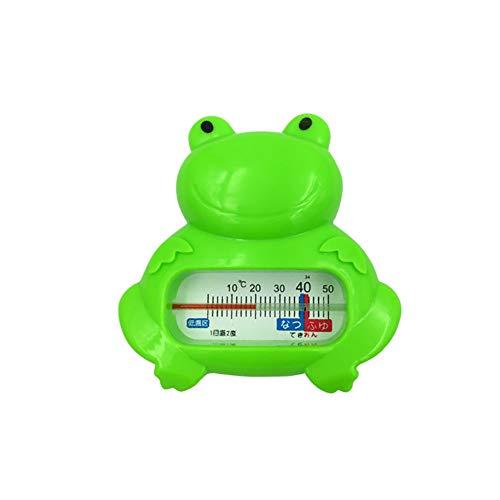 Hilai 1pc Baby-Badethermometer Badewassertemperatur messen Schwimmdock Spielzeug verwendet in Badewanne und Swimming Pool (Green Frog)