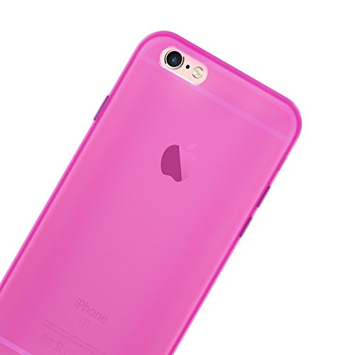 Apple iPhone 6S 6 Hülle Case, Conie Liquid Crystal Ultra Dünn Crystal Clear Transparent Handyhülle Cover Soft Premium-TPU Durchsichtige Schutzhülle Backcover Slimcase für Apple iPhone 6S 6 Pink