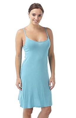 Ladies Short Viscose Chemise Maya Blue Size 8/10, 12/14, 16/18, 20/22