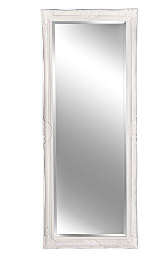 Spiegel Wandspiegel Badspiegel ELISABETH Weiß Barock-Stil 150 x 60
