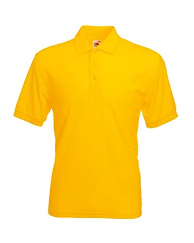 Fruit of the Loom SS033M, Polo Homme, Jaune-Yellow (Sunflower Yellow), Grand