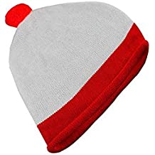 White And Red Bobble Fancy Dress Hat (gorro/ sombrero)
