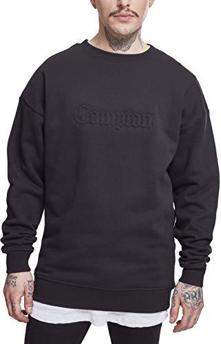 Mister Tee Herren Embossed Compton Crewneck Sweatshirt Black M