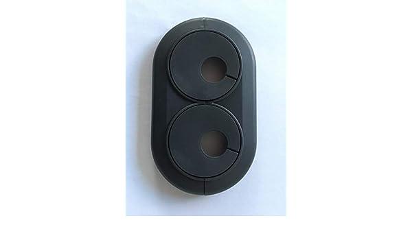 5 ST/ÜCK Doppelrosetten variabel in wei/ß und verchromt//Lochdurchmesser 16 mm auch in ANTHRAZITGRAU passend f/ür Rohrabst/ände von 30-70 mm Mitte//Mitte 28mm, verchromt